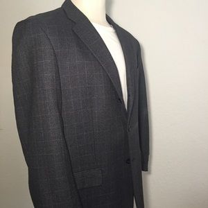 PRONTO UOMO Wool Blend Gray Check Blazer 44R